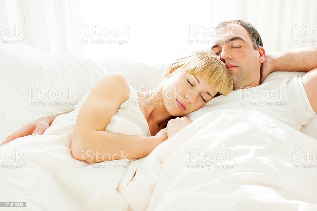 Young Couple Sleeping. royalty-free stock photo