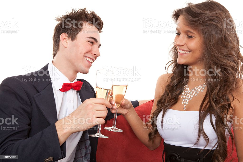 Young Couple Smile royalty-free stock photo