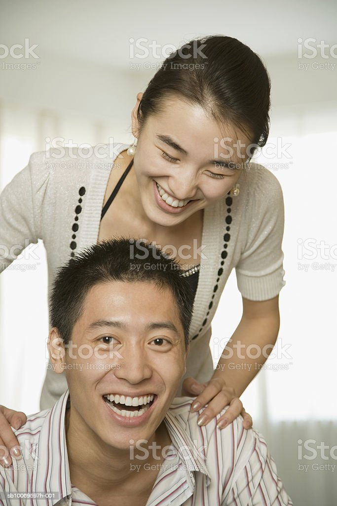 Young couple, smiling royalty-free stock photo