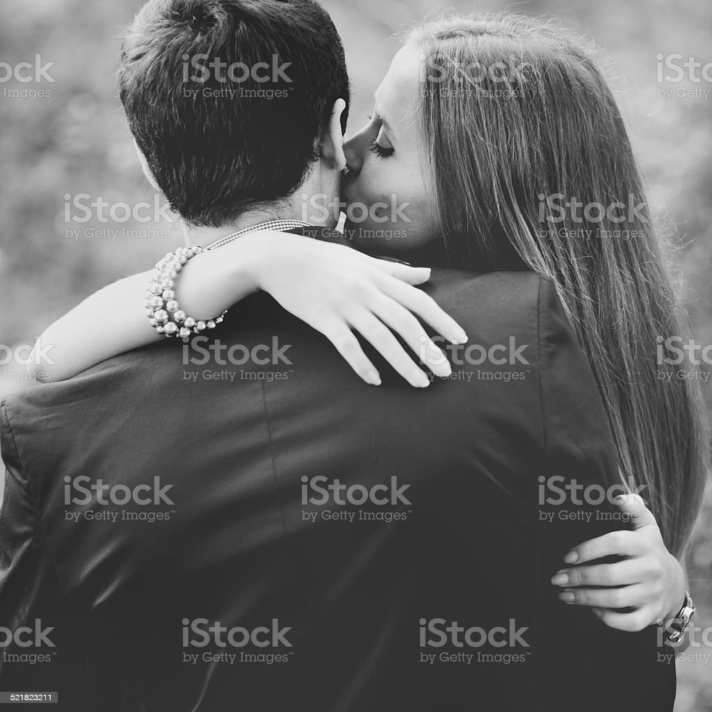 Young couple spending weekend together. stock photo