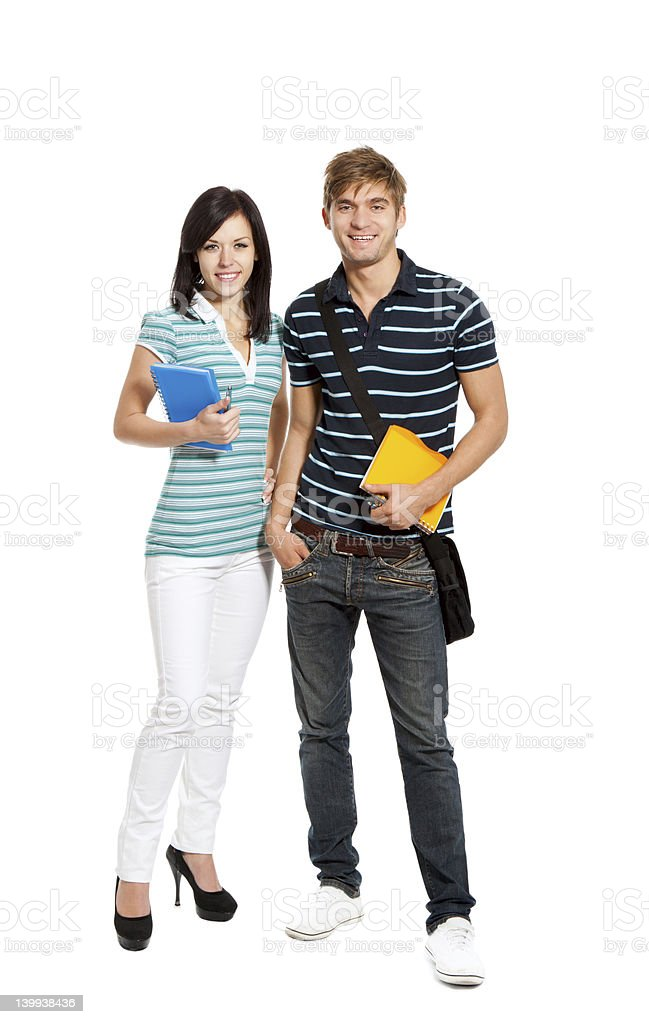 young couple students royalty-free stock photo