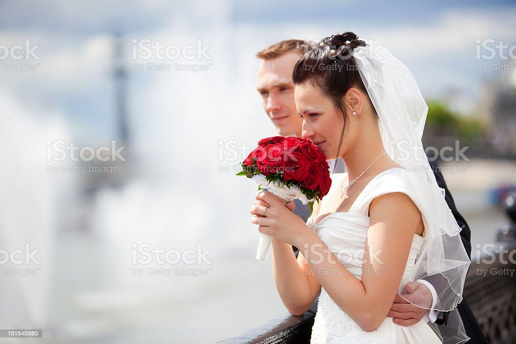 Young couple wedding stock photo