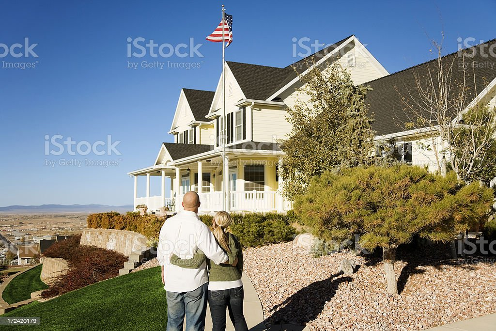 Young Couple With  an American Dream royalty-free stock photo
