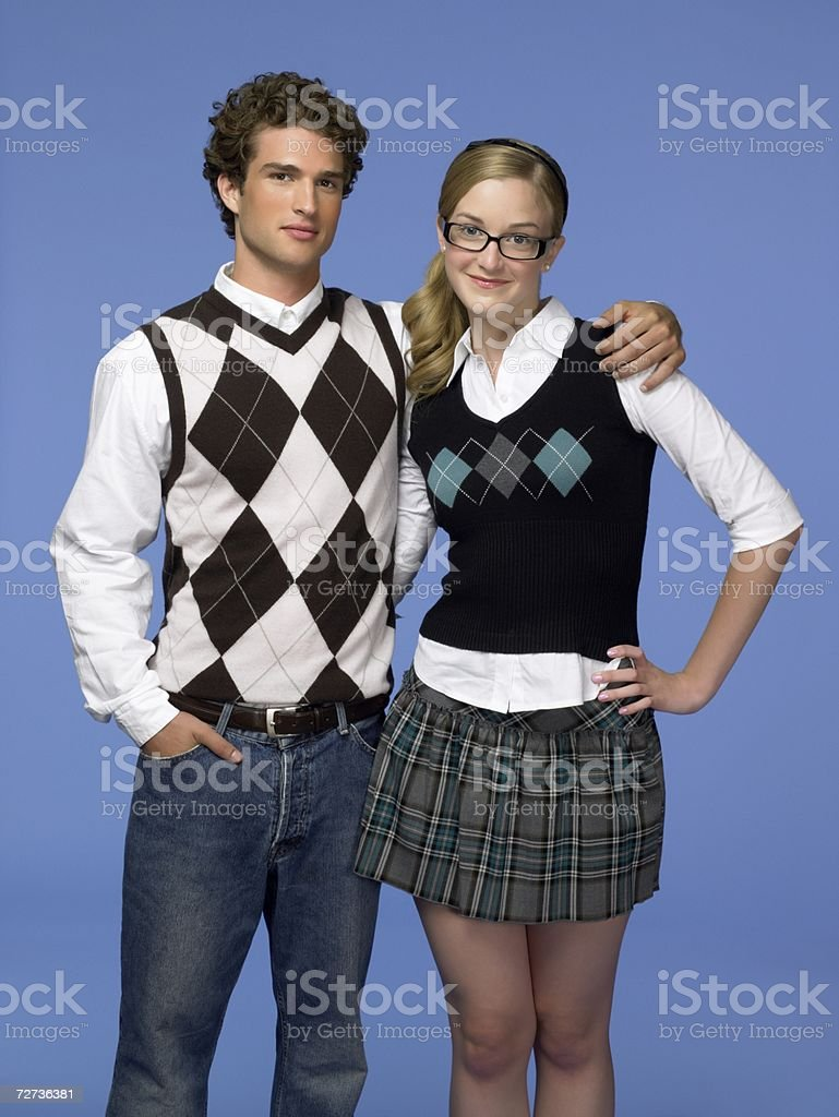 Young couple with arms around each other royalty-free stock photo