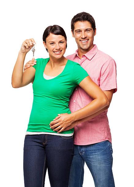 젊은 커플에게 새 하우스 키별-격리됨에 - home 뉴스 사진 이미지