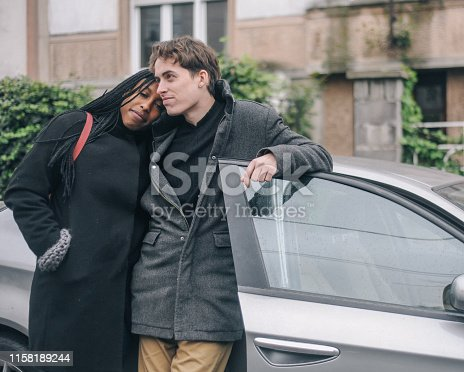 173607342 istock photo A young couple with their new car 1158189244