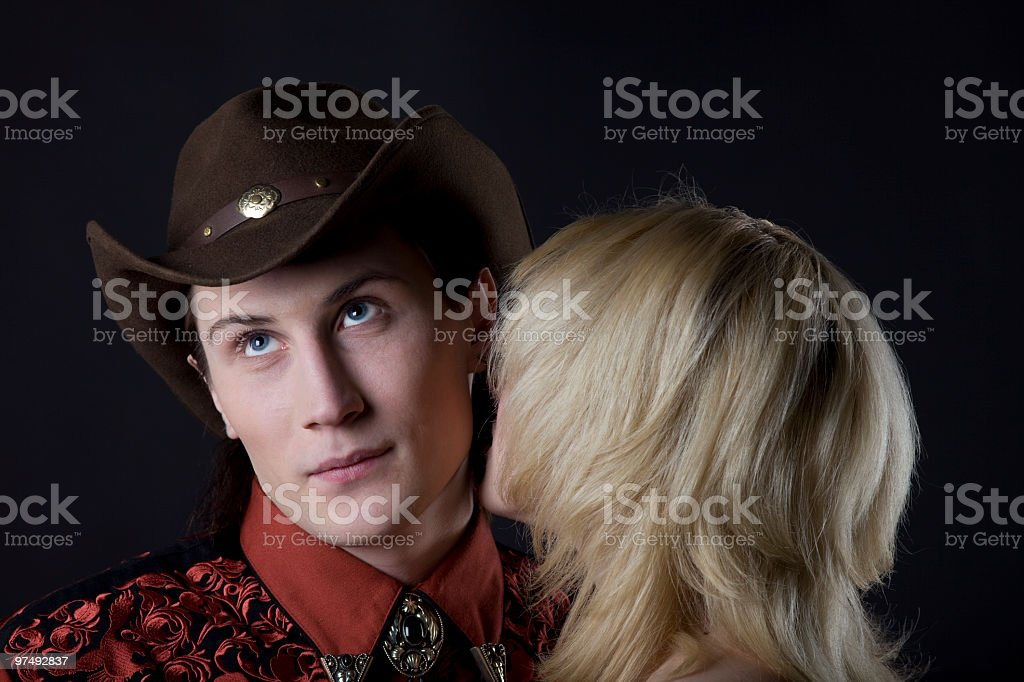 young cowboy and girl royalty-free stock photo