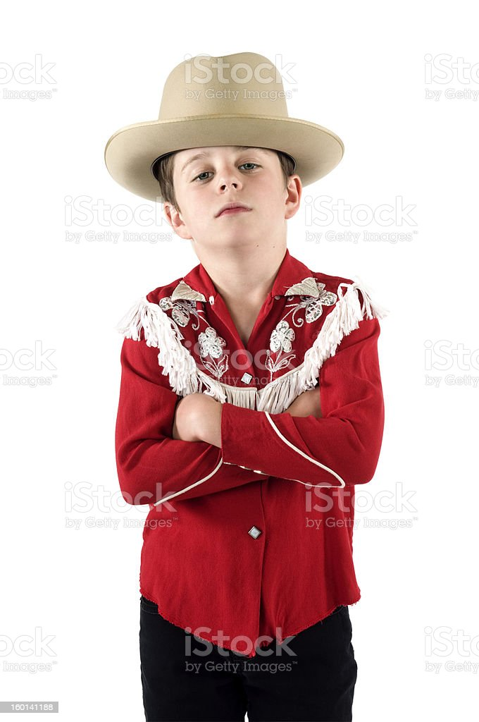 Young Cowboy stock photo