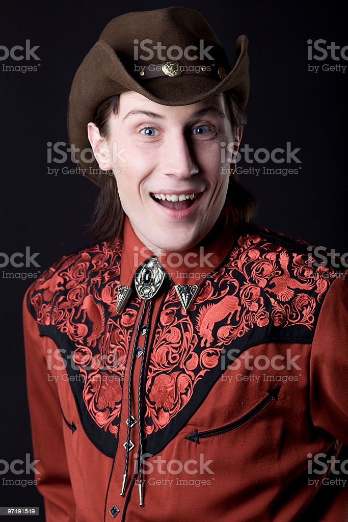 young cowboy smile royalty-free stock photo