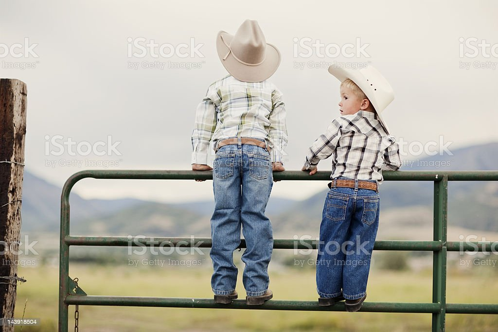 Young Cowboys stock photo