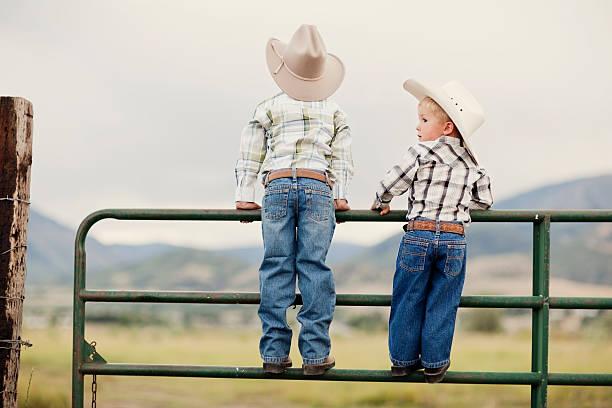 Young Cowboys stock photo