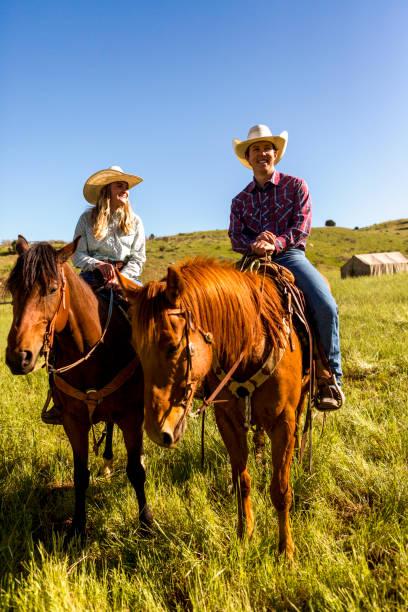 jungen Cowboys mit Pferden auf Santaquin Tal von Salt Lake City SLC Utah USA – Foto