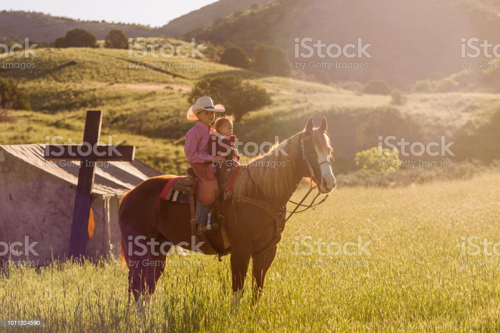 Young cowboys with rural tent church at santaquin valley of Salt lake City SLC Utah USA - Stock image . & Young Cowboys With Rural Tent Church At Santaquin Valley Of Salt ...