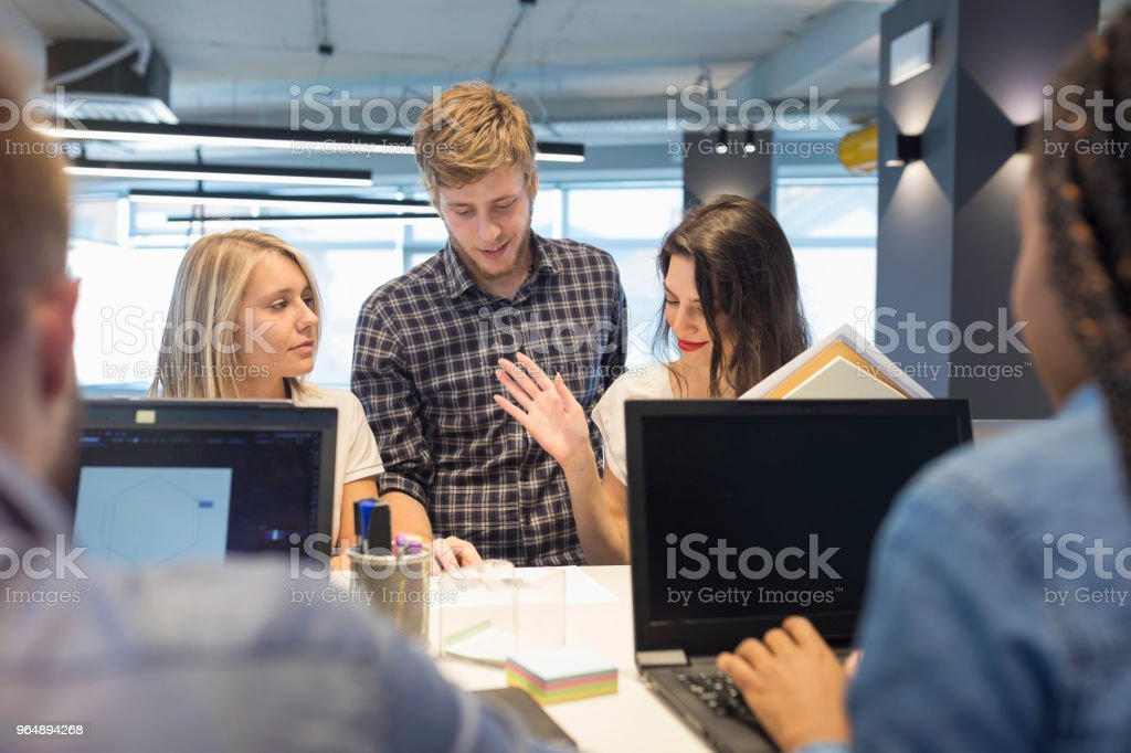 Young coworkers in modern office - Royalty-free Adult Stock Photo