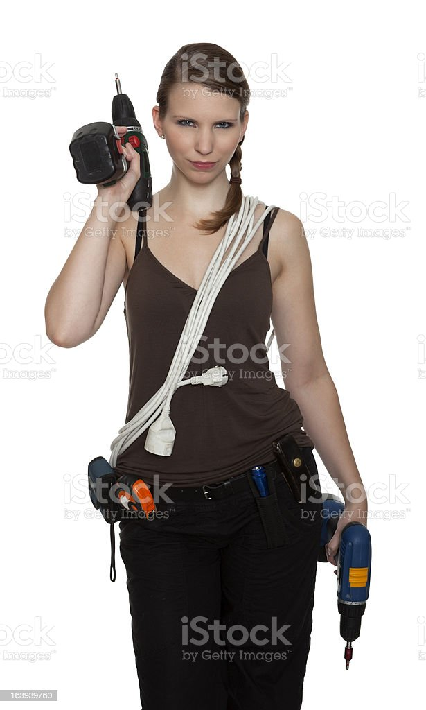 Young craftswoman royalty-free stock photo