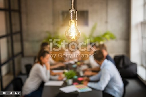 istock Young creative business people meeting at office. 1016761498