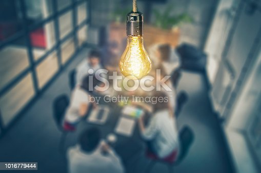 istock Young creative business people meeting at office. 1016779444