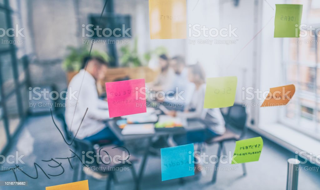 Young creative business people meeting at office. royalty-free stock photo