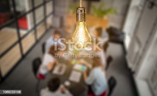 istock Young creative business people meeting at office. 1069233106