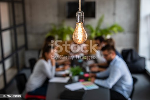 istock Young creative business people meeting at office. 1075708898