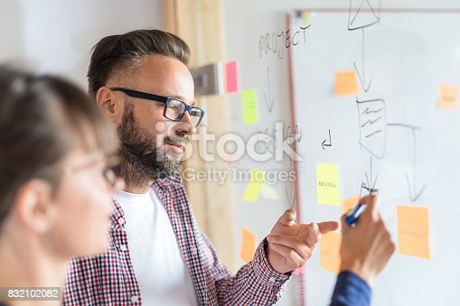 832112086istockphoto Young creative business people meeting at office. 832102082