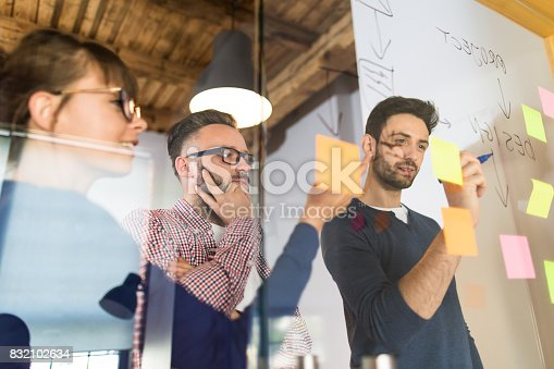 832112086istockphoto Young creative business people meeting at office. 832102634