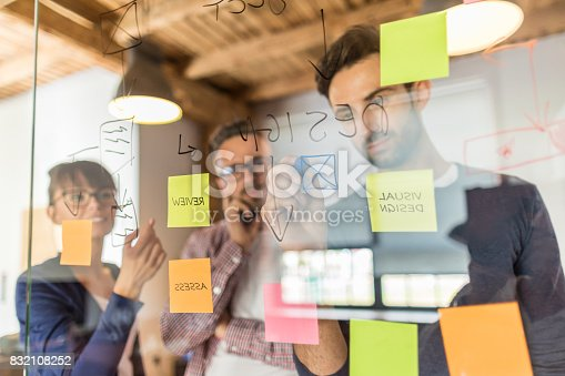 832112086istockphoto Young creative business people meeting at office. 832108252