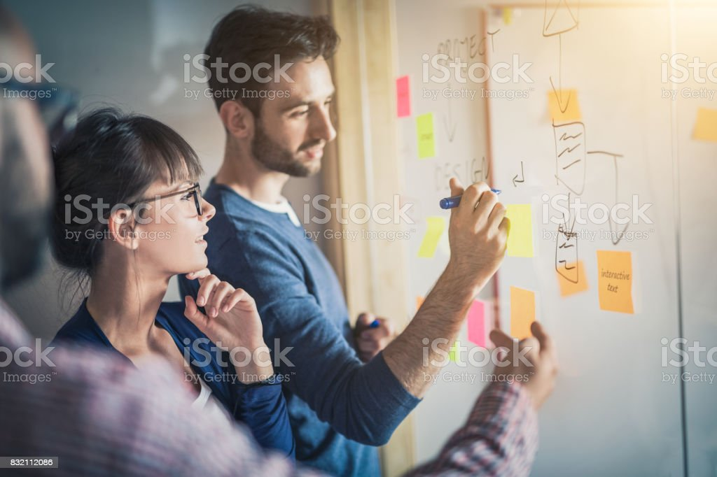 Young creative business people meeting at office. foto stock royalty-free