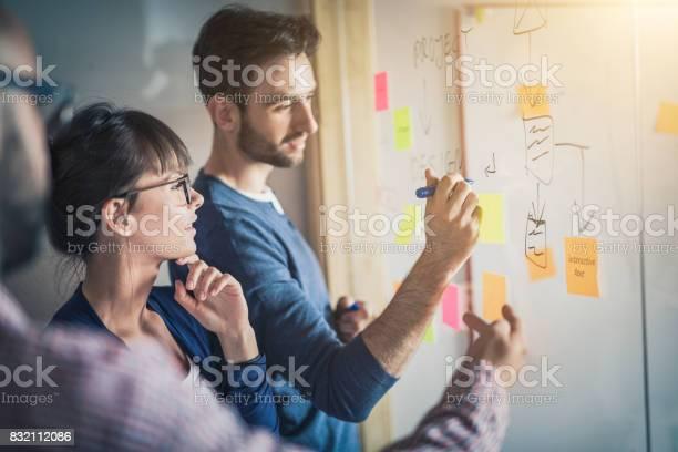 Jonge Creatieve Business Mensen Bijeen Op Kantoor Stockfoto en meer beelden van Aanbrengen