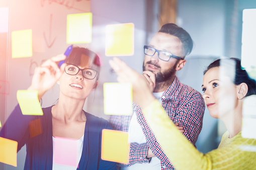 832112086 istock photo Young creative business people meeting at office. 843012924