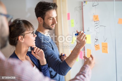 832112086istockphoto Young creative business people meeting at office. 873594058