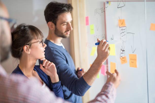 Gens d'affaires créatives jeunes réunis au bureau. - Photo