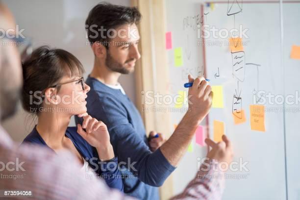 Junge Kreative Geschäftsleute Treffen Im Büro Stockfoto und mehr Bilder von Arbeiten