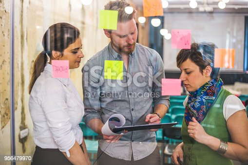 832112086istockphoto Young creative business people meeting at office 956479970