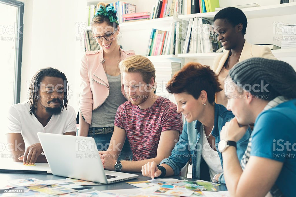 Young Creative Minds. stock photo