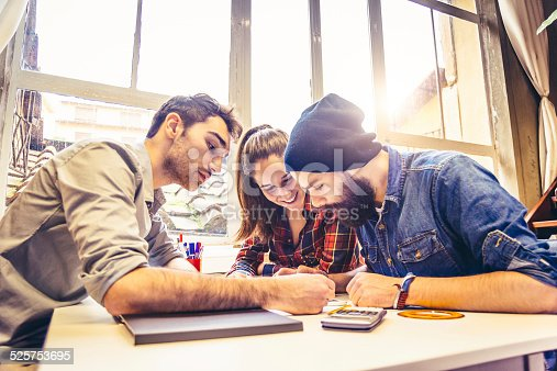 istock Young Creatives Team Working Together 525753695