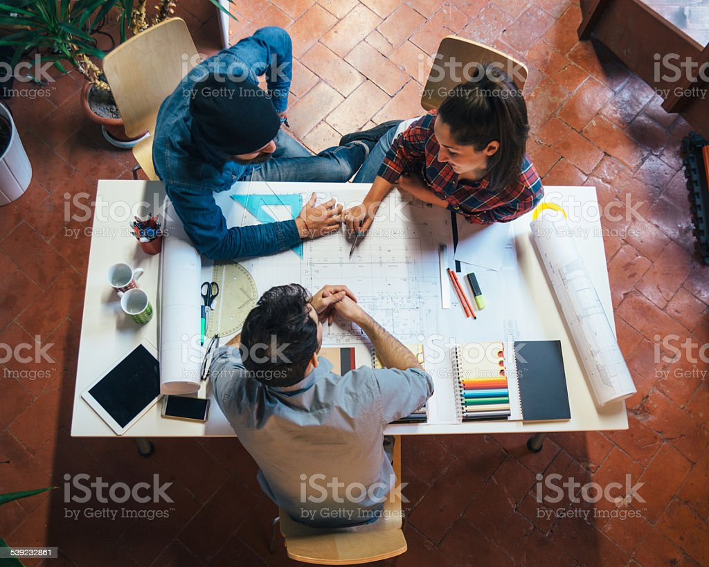 Young Creatives Team Working Together royalty-free stock photo