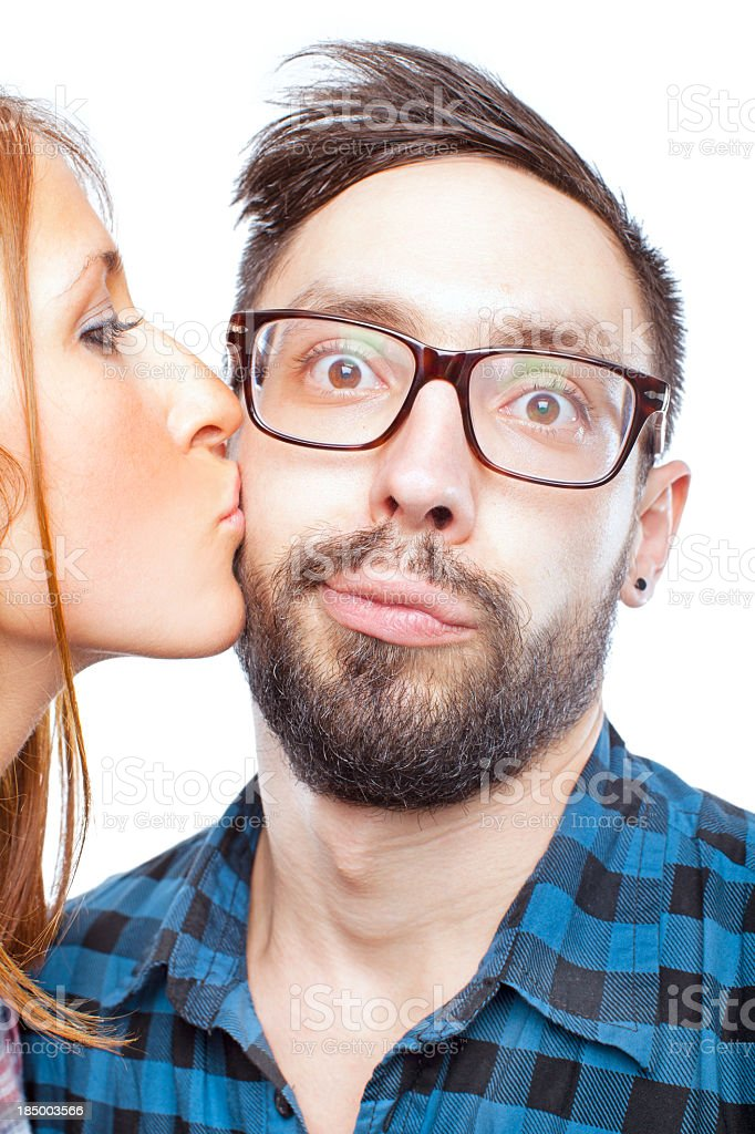 Young cuple close up stock photo
