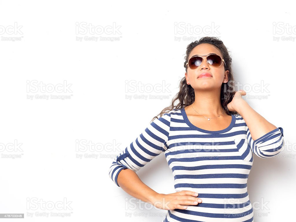Young Cute Female With Fun Summer Look stock photo