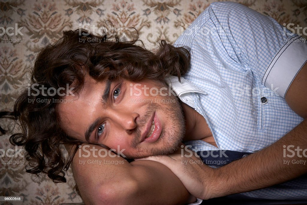 young cute guy looking royalty-free stock photo