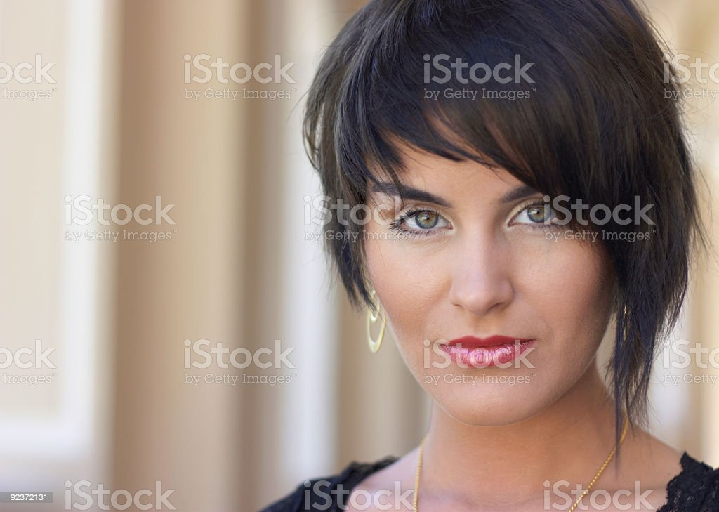 young cute lady royalty-free stock photo
