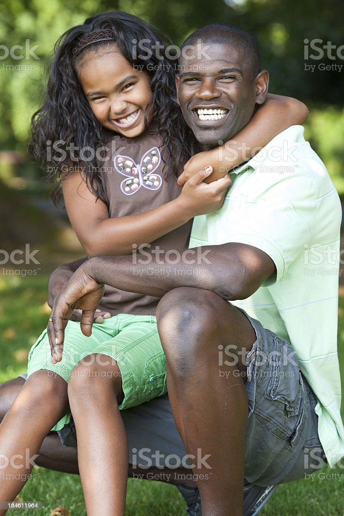 young dad and his daughter royalty-free stock photo