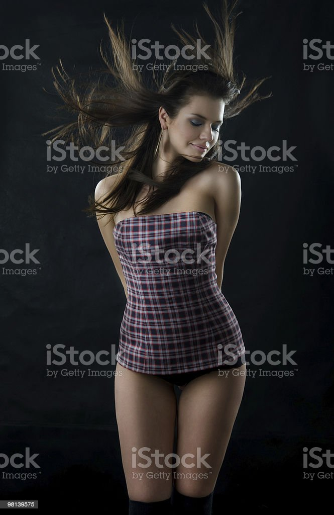 Young dancing woman. royalty-free stock photo