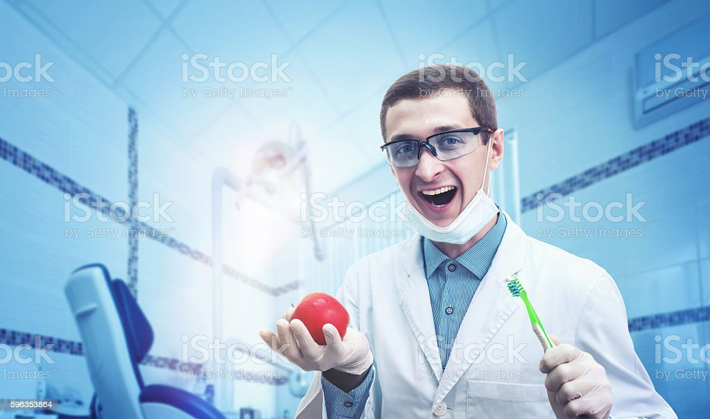 Young dentist portrait royalty-free stock photo