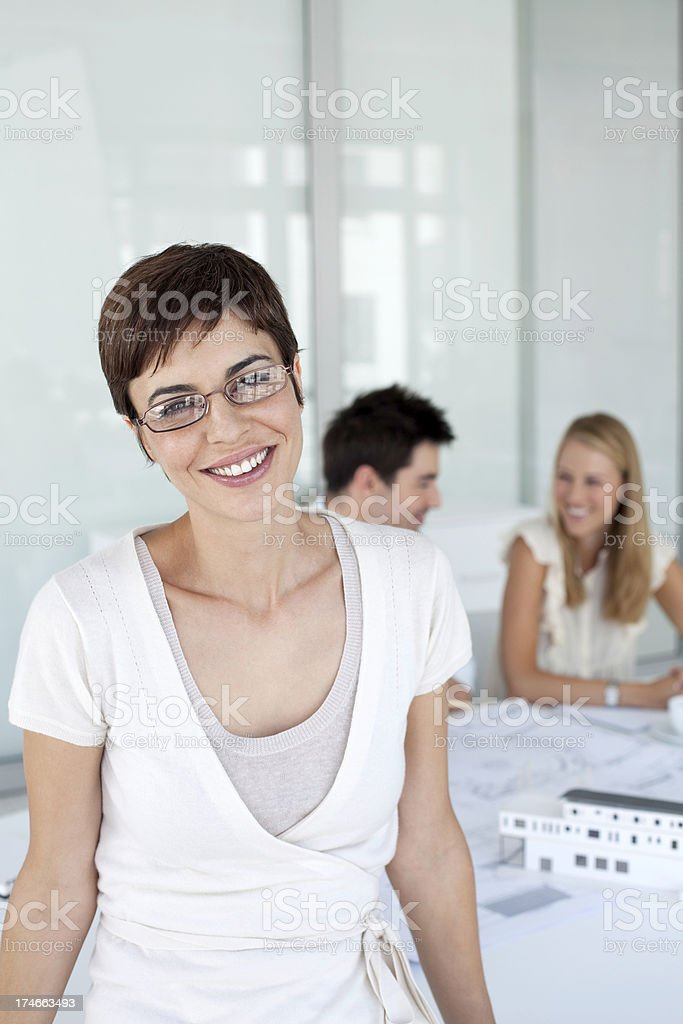 Young designer in her office. royalty-free stock photo