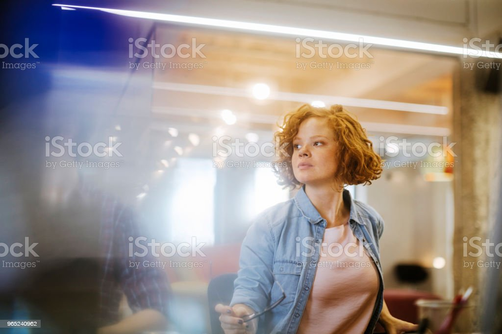 Young designer royalty-free stock photo