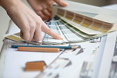 istock Young designer working with color palette 524150142