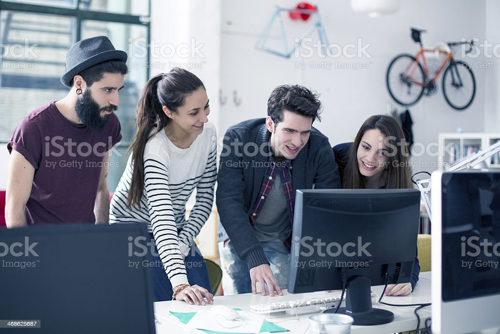Young designers team royalty-free stock photo