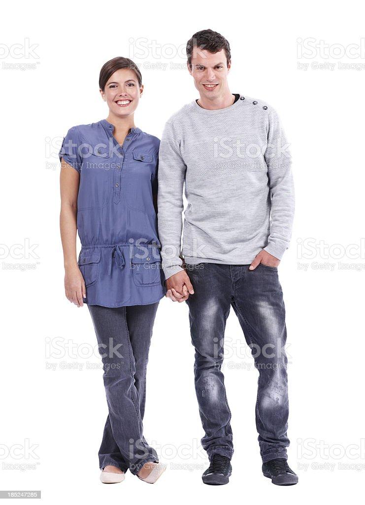 Junge freundliche Paar auf die Sie sich verlassen können. – Foto