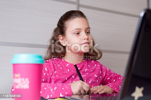 655532196 istock photo Young digital artist drawing with digital pen tablet 1187848100